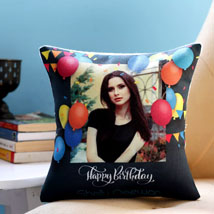 Personalised Birthday Balloons Cushion: Personalized Gifts