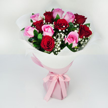 Pink and Red Roses Grand Bouquet: Valentines Day Gifts