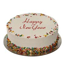 Rainbow Sprinkles Cake: New Year Gifts