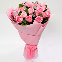 Ravishing Bouquet of 20 Pink Roses: Valentines Day Gifts