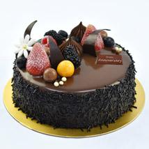 Half Kg Fudge Cake For Anniversary:  Wedding Anniversary Gifts