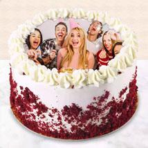 Red Velvet Photo Cake For Birthday: Cakes