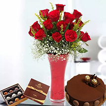 Warm Wishes Combo: Flowers & Cakes